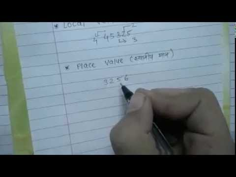 place value and local value in hindi