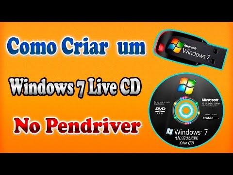 Como criar um  Live Cd do Windows 7 e colocar no pendriver