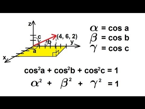 Physics - Mechanics: Vectors (19 of 21) Finding The Direction Cosine