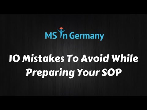 10 Mistakes To Avoid While Preparing Your SOP - MS in Germany™