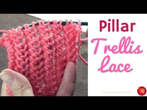 Pillar Trellis Lace Stitch - Knitting Lace Stitches