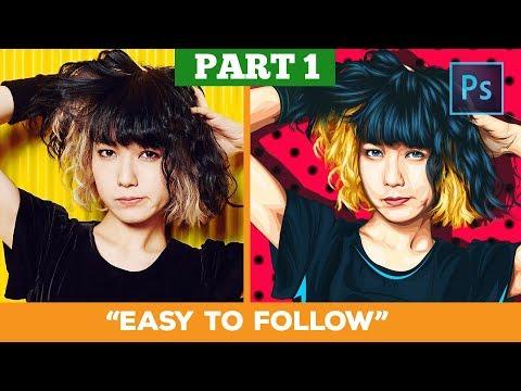 [ Photoshop tutorial ] Transform a Photo into Anime (LINE ART) #PART 1