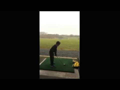 Next rory mcilroy!! 7 year old hits 130 yrds with 7 iron!!