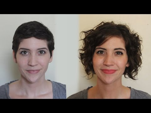 Pixie to Curly Bob One Year Timelapse