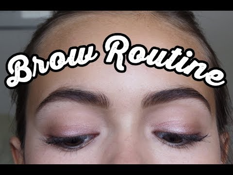 MY BROW ROUTINE: Perfect Sharp Brows