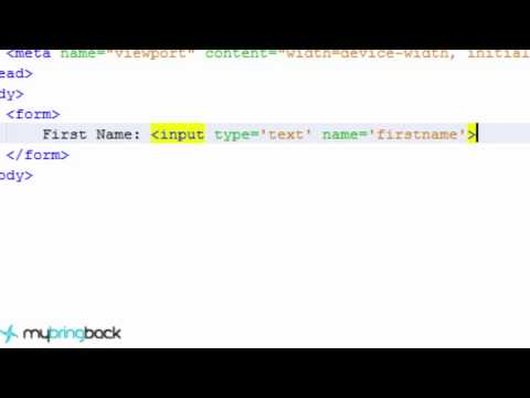 HTML and CSS Tutorial 7 : Forms with Text, Password, Checkbox, and Radio Inputs