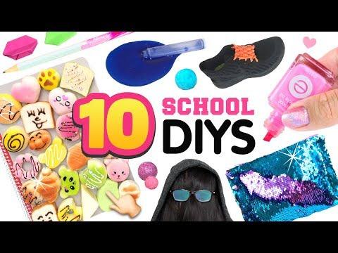 10 School HACKS, PRANKS & DIYS!! 5-Minute DIY Ideas, Life Hacks for Back To School!