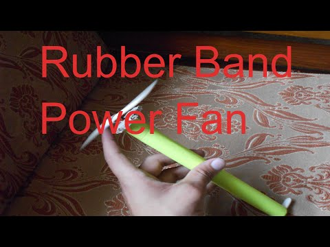 How to Make Rubber Band Power Fan | Home Made Tutorial | Very Easy