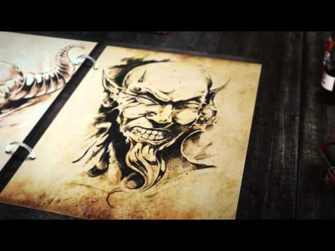 Tattoo Sketchbook Portfolio