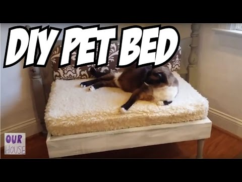 How to Build a Pet Bed from Recycled Wood - OurHouse DIY
