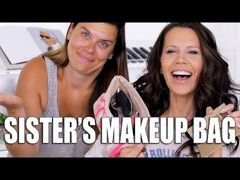 FULL FACE USING SISTERS MAKEUP BAG
