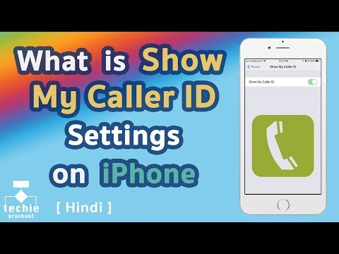 What is Show My Caller ID Settings on iPhone. HINDI