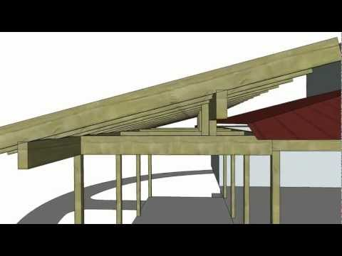porch roof addition, SketchUp animation (1216)