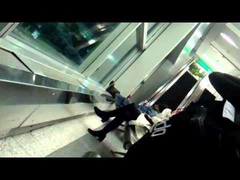 Government Recruited Homeless GangStalker At LaGuardia Airport LGA MP4