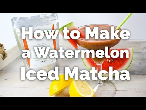 How to Make Watermelon Iced Matcha