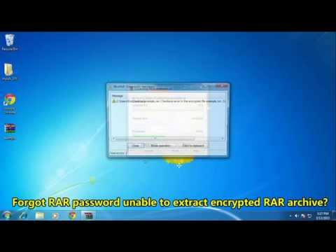 How to Find RAR Password from Encrypted RAR Archive
