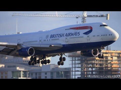 British Airways Boeing 747 400 Sunset Landing