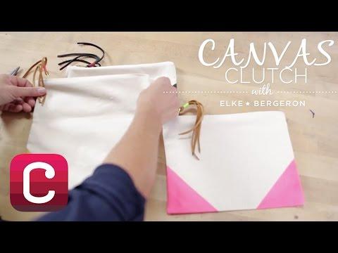 Sew a Canvas Clutch with Elke Bergeron I Creativebug