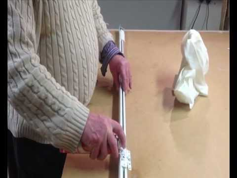 Curtains Louth - simple trick to free up stiff curtain rails professional Curtain maker