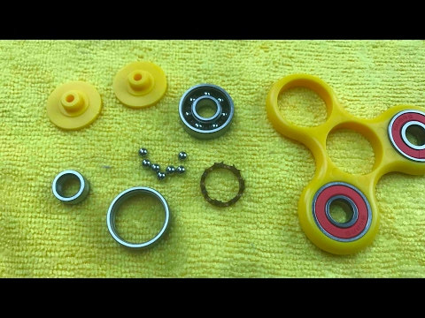 Tear Down Hand Spinner Bearings and Balls Clean Them & Put Back Together