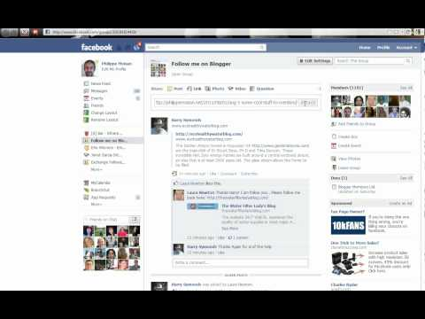 Add a blog post URL to a FaceBook page ( FanPage, group, your own wall )