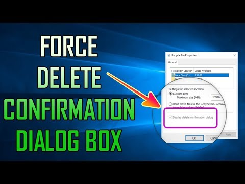 PREVENT OTHER USERS CHANGE DELETE DIALOG BOX OPTION - WINDOWS 10 TIPS