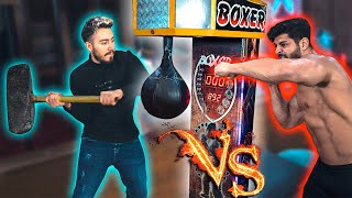 Download BOKS MAKİNESİ : BALYOZ VS KASLI YUMRUK 💪🏻 *Boks Makinesi Kırıldı* Video