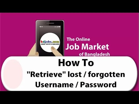 How To Recover Lost Password
