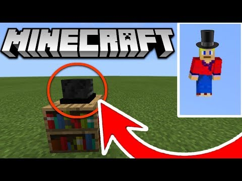 How to make a top hat in MCPE 1.2 ( Minecraft PE )