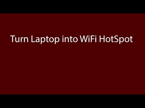 How to Turn your Windows Laptop into a WiFi Hotspot