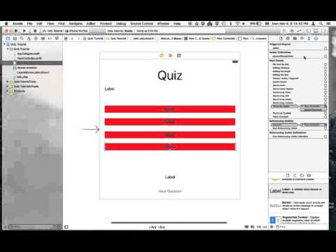 iOS 9 Xcode 7 Swift 2 Tutorial 8: Making a Quiz app part 1