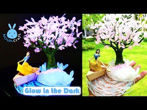 Hot Glue Water SnowWhite Under Sakura Tree | Hot Glue DIY Life Hacks for Crafting Art #021