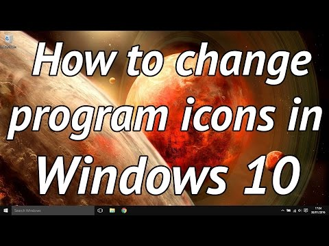 How to easily change task bar program icons in windows 10