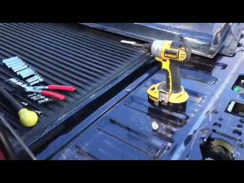 How to install newer tailgate on F250 F350
