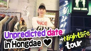 Korea Vlog 2017 // Seoul nightlife   How to date in Hongdae // 홍대 데이트 했다.