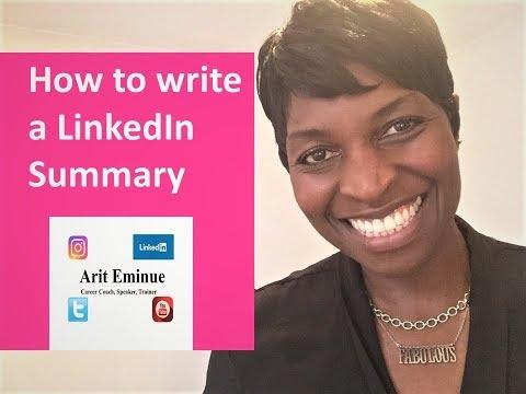 LinkedIn - How to write a summary