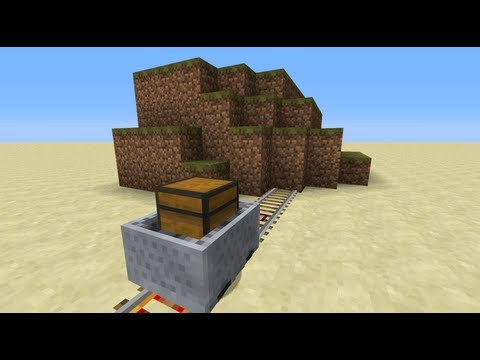 minecart door minecraft how to tutorial 2 way compact and easy