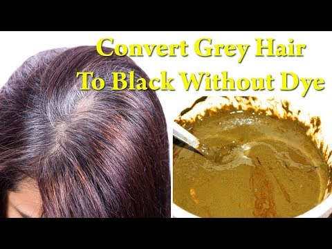 White Hair to Black Permanently in 7 Days Naturally | How to Convert Grey Hair to Black Naturally