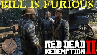 Red Dead Redemption 2 | Bill Provokes Charles, John and Arthur at Camp