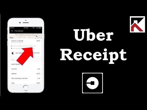 How Do I View Uber Receipt