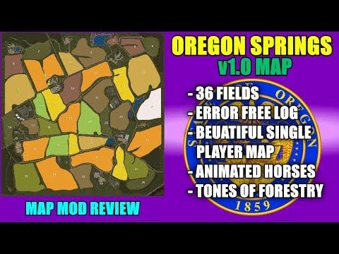 Farming Simulator 17 - Oregon Springs Map v1.0