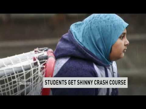 'As Canadian as everyone else': Surrey Muslim School tries out road hockey