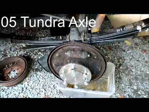 Replace 05 Toyota Tundra Rear Axle Shaft, Wheel Bearing, and Seals Without Shop Press