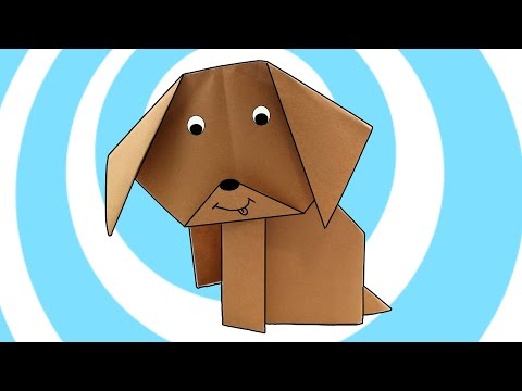Origami Dog for Kids 🐶  ✔ Very Easy Origami Instructions