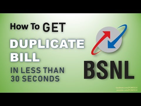 How to Get BSNL Duplicate Bill Or Soft Copy Online in Just 30 seconds | 2017 | PoinTecH