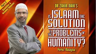 Question & Answer Session - Is Islam The Solution For The Problems Of Humanity