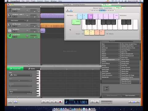 Garageband '11- How to Assign Samples to your Keyboard