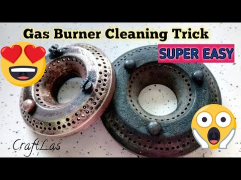 Easy Gas Burner Cleaning Trick | गैस बर्नर साफ़ करने का आसान उपाय | CraftLas