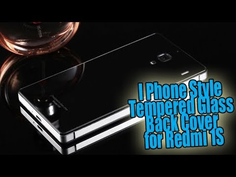 I Phone Style Tempered Glass Back Cover for Redmi