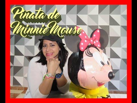 Como elaborar una Piñata de Minnie Mouse